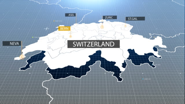swiss map - switzerland stock videos & royalty-free footage
