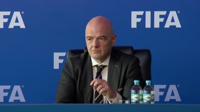 vídeos de stock, filmes e b-roll de a swiss special prosecutor has launched criminal proceedings against fifa president gianni infantino after investigating suspected collusion between... - gianni infantino