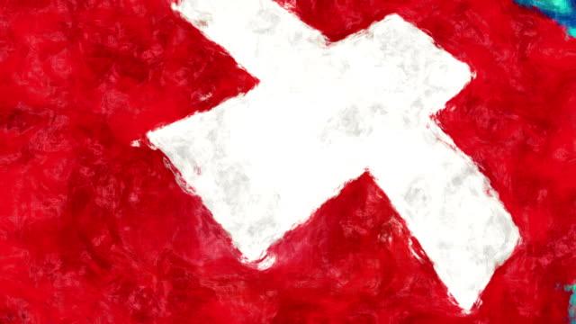 Schweiz Kunst Flagge