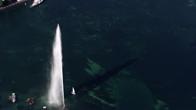 Switzerland : Close up of Geneva and Lake Geneva