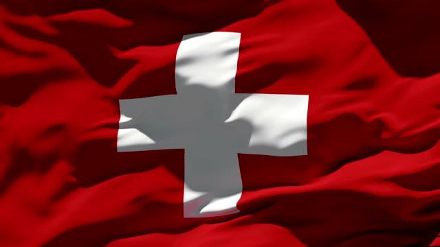schweiz flagge - flagge stock-videos und b-roll-filmmaterial