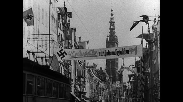 map 'switzerland' german nazi swastika symbol - anno 1939 video stock e b–roll