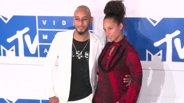 Swizz Beatz Alicia Keys at 2016 MTV Video Music Awards Arrivals at Madison Square Garden on August 28 2016 in New York City