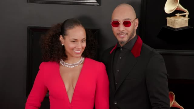 Swizz Beatz and Alicia Keys at the 61st Grammy Awards at Staples Center on February 10 2019 in Los Angeles California EDITORIAL