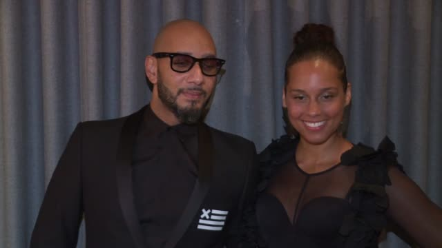 Swizz Beatz and Alicia Keys at The Brooklyn Artists Ball at Brooklyn Museum on April 03 2017 in New York City