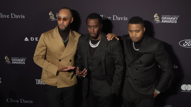 """swizz beatz, sean """"diddy"""" combs and nas at the recording academy and clive davis' 2020 pre-grammy gala at the beverly hilton hotel on january 25,... - the beverly hilton hotel stock videos & royalty-free footage"""