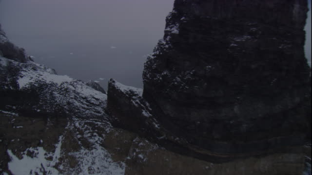 swooping track over rocky peninsula, antarctica - bbc stock videos and b-roll footage