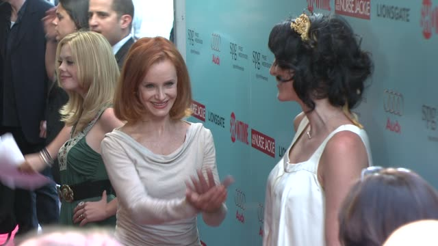 swoosie kurtz and eve best at the world premiere of showtime's 'nurse jackie' at new york ny - nurse jackie video stock e b–roll
