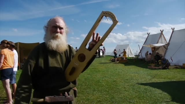 Swords and battle axes drawn shields up combatants in period costumes thrust and parry in a stunning recreation of Viking battles For the last 126...