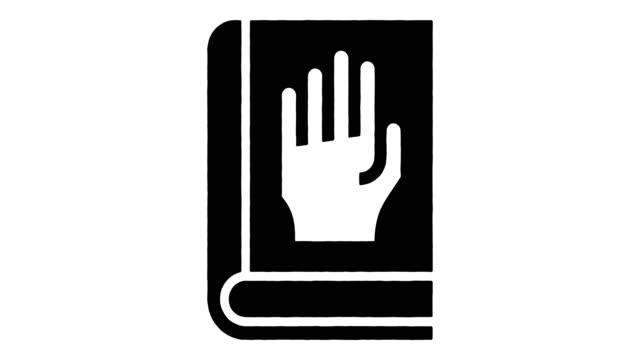 アルファによる宣誓証言線描画&インクスプラッタアニメーション - 正義の天秤点の映像素材/bロール