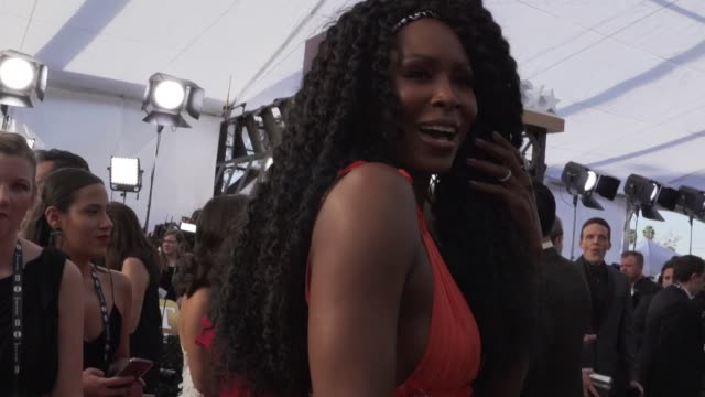 stockvideo's en b-roll-footage met sydelle noel at the 25th annual screen actors guild awards social ready content at the shrine auditorium on january 27 2019 in los angeles california - screen actors guild