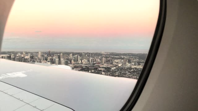sydney aerial view from the plane