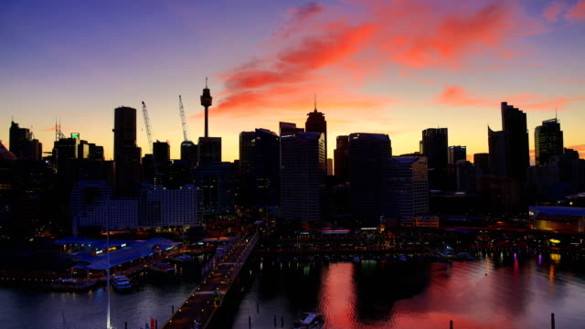 sydney, australia time lapse: 4k - sunrise dawn stock videos & royalty-free footage