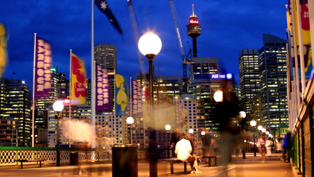 sydney, australia time lapse: 4k - sydney australia stock videos and b-roll footage