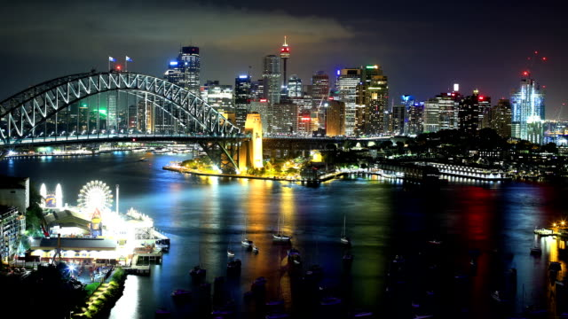 sydney, australia time lapse - sydney australia stock videos and b-roll footage