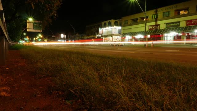 Sydney Australia traffic Time Lapse Night Shot in 4k