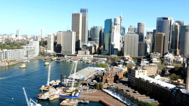 vídeos y material grabado en eventos de stock de sydney, circular quay, ferry, paisaje de la ciudad - terminal de ferry