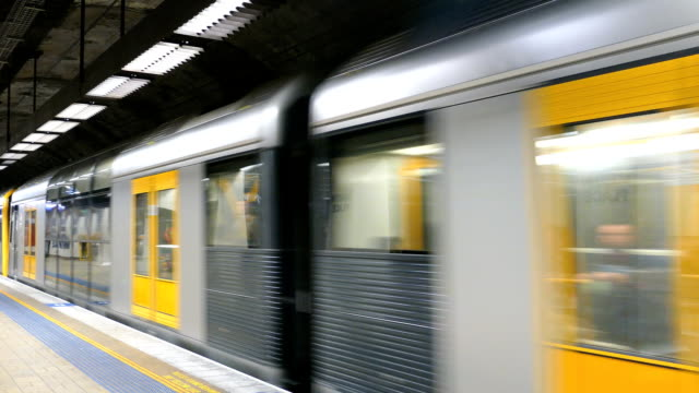 sydney commuter train, australia - underground train stock videos & royalty-free footage