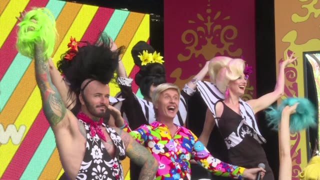 sydney festival kicks off with acrobatic boylesque show and big hair cabaret - big hair stock videos & royalty-free footage