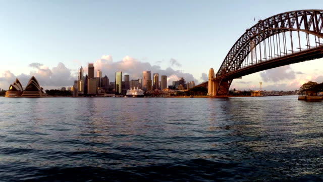 sydney harbor aerial footage - australia stock videos & royalty-free footage