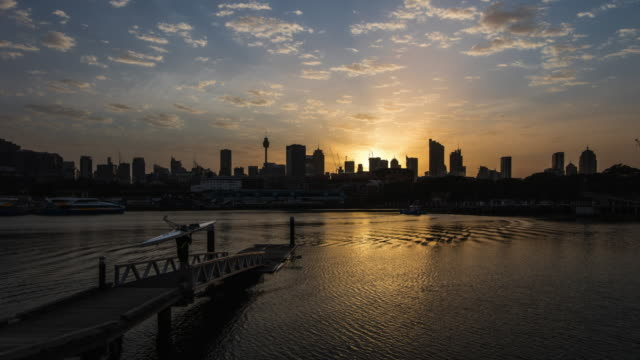 sydney harbour at sunrise - sydney stock videos & royalty-free footage