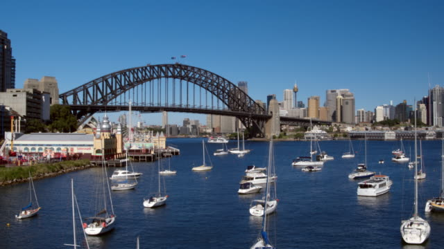 sydney harbour bridge, luna park, sydney, new south wales, australia - sydney australia stock videos and b-roll footage