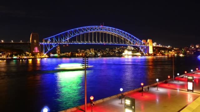 Sydney Harbour bridge on Vivid Sydney Festival 2016