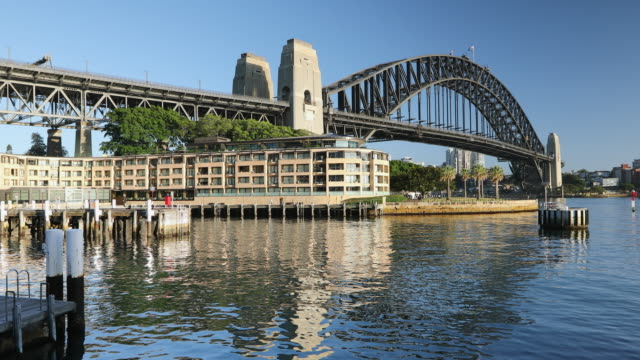 sydney harbour bridge, sydney, new south wales, australia, pacific - international landmark stock videos & royalty-free footage