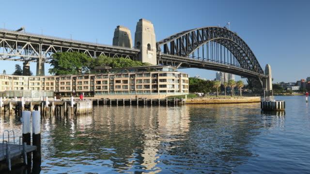 sydney harbour bridge, sydney, new south wales, australia, pacific - international landmark stock videos & royalty-free footage