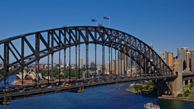sydney harbour bridge, sydney, new south wales, australia - sydney stock videos & royalty-free footage