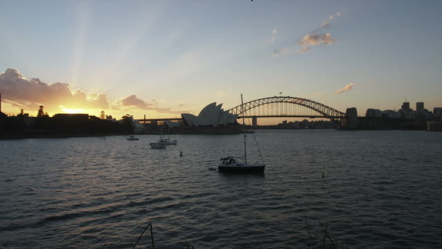 Sydney Harbour day to night HD timelapse. Australia