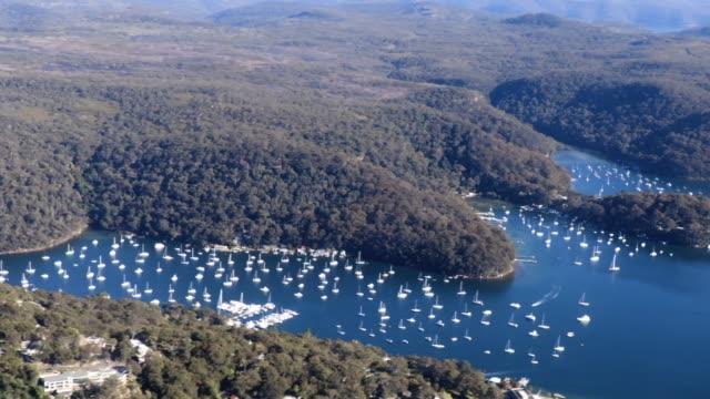 sydney lifestyle central coast aerial - steve munro stock videos & royalty-free footage