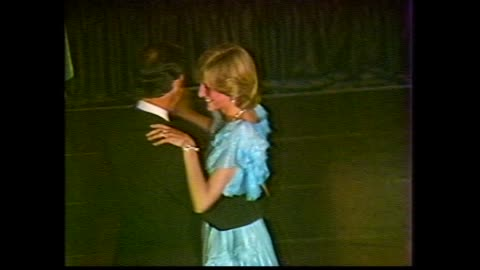 stockvideo's en b-roll-footage met sheraton wentworth hotel - royal rolls royce pulls up to uniformed valet at curb – princess diana and prince charles out of car greet premier neville... - 1983