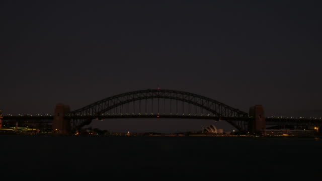 Sydney Opera House and Harbour Bridge Time Lapse Sunset 4k