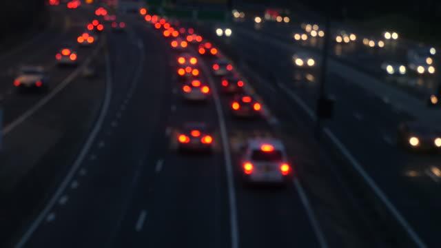 Sydney peak hour traffic sunset 4k