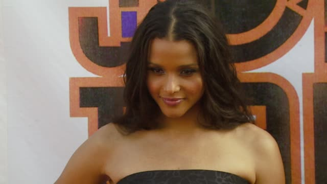 sydney poiter at the 21st annual soul train music awards at pasadena civic auditorium in pasadena, california on march 11, 2007. - sydney tamiia poitier stock videos & royalty-free footage