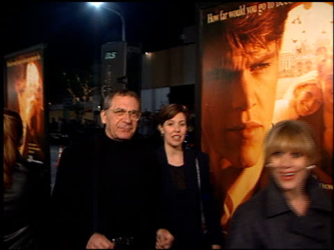 sydney pollack at the premiere of 'the talented mr ripley' at the mann village theatre in westwood, california on december 12, 1999. - sydney pollack stock videos & royalty-free footage