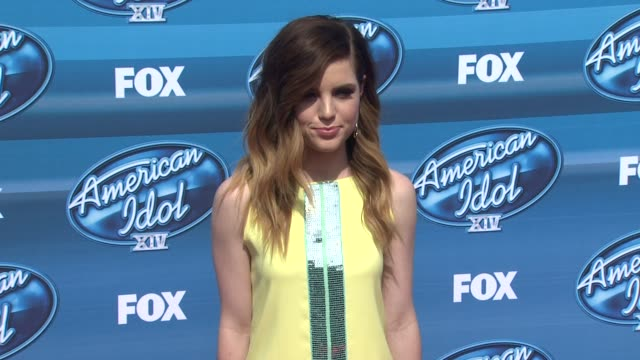 sydney sierota at the american idol xiv grand finale arrivals at dolby theatre on may 13 2015 in hollywood california - american idol stock videos and b-roll footage