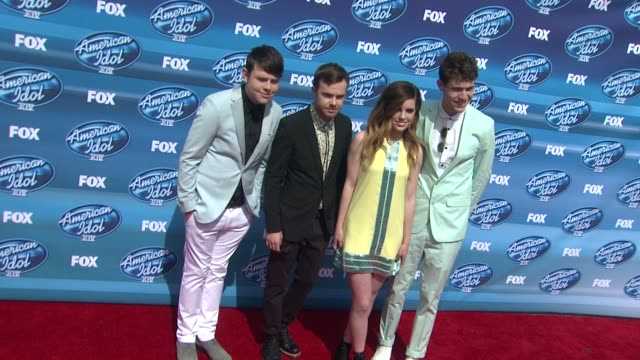sydney sierota graham sierota noah sierota and jamie sierota of echosmith at the american idol xiv grand finale arrivals at dolby theatre on may 13... - american idol stock videos and b-roll footage