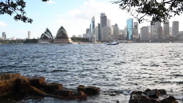 sydney skyline - opera house stock videos & royalty-free footage