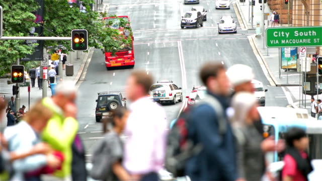 sydney streets and commuters - pedestrian stock videos & royalty-free footage