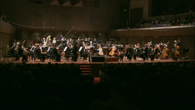 ws sydney symphony orchestra playing on stage, melbourne, victoria, australia - orchestra stock videos & royalty-free footage