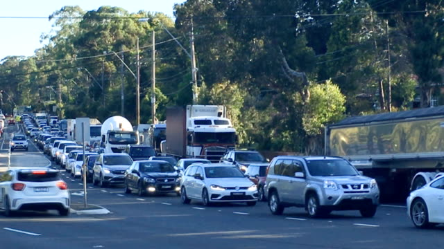 sydney traffic on ryde road - busy morning stock videos & royalty-free footage