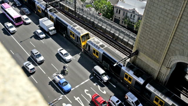 sydney traffic - train vehicle stock videos & royalty-free footage