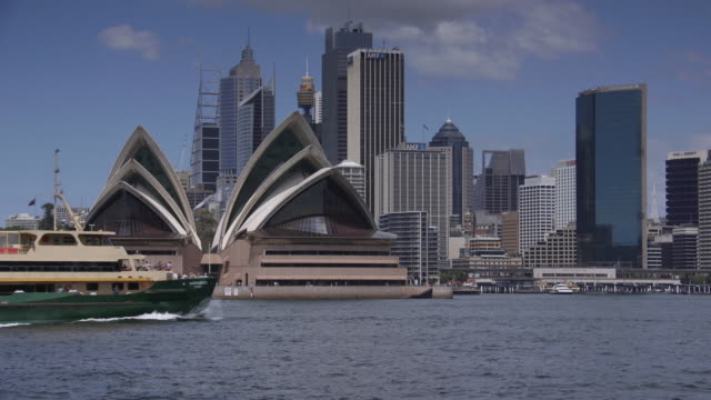 sydney waterfront cityscape cu 2 - establishing shot stock videos & royalty-free footage