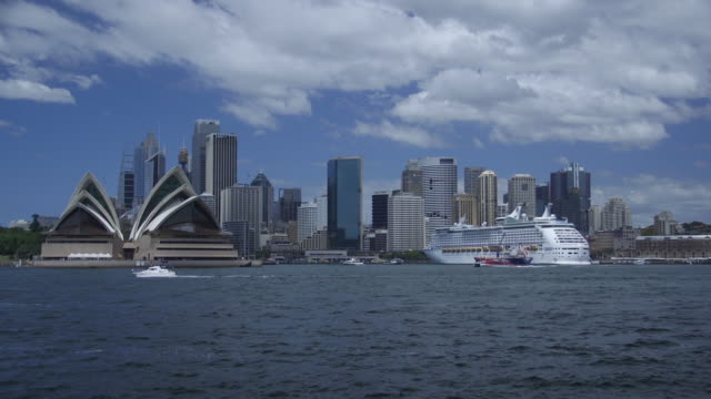 sydney waterfront cityscape - establishing shot stock videos & royalty-free footage