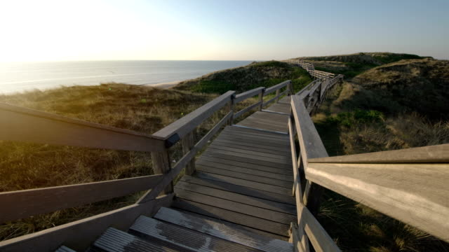 sylt at sunset - north frisian islands stock videos & royalty-free footage