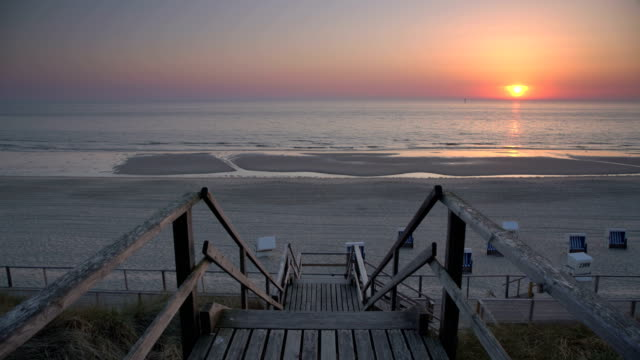 sylt at sunset - sylt stock videos & royalty-free footage
