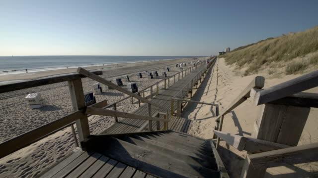 sylt west beach - sylt stock videos & royalty-free footage