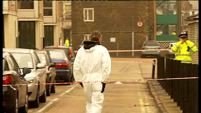 two teenagers appear in court england london peckham ext various shots of police forensic officers examining block of flats and surrounding area... - peckham stock videos and b-roll footage